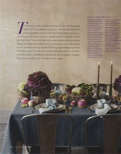 love this thanksgiving table - great color scheme