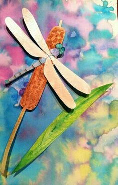 Paper dragonfly