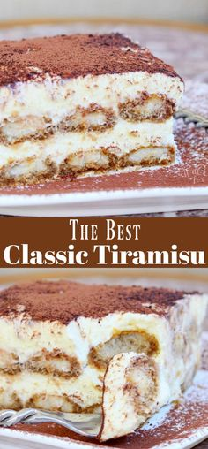 Tiramisu is made with layers of espresso dipped Ladyfingers coo… Tiramisu Recipe. Tiramisu is made with layers of espresso dipped Ladyfingers cookies, smooth mascarpone cream with a hint of Amaretto and dusted with cocoa powder. Desserts Keto, Just Desserts, Delicious Desserts, Dessert Recipes, Dinner Recipes, Dessert Oreo, Tiramisu Dessert, Coffee Tiramisu Recipe, Tiramisu Recipe With Cream Cheese