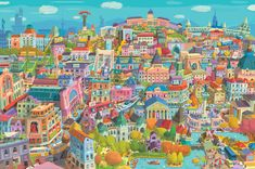 Zsolt Vidak is an award winning illustrator, stamp designer, comic artist. His Budapest cityscapes and personal artworks are available in limited edition giclée prints. Funny Scenes, Dog Show, Comic Artist, See It, Budapest, The Funny, Art Direction, Design Inspiration, Graphic Design