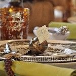 Absolutely gorgeous!! Toasting Bells/Place Card Holders! I have to have these!!! <3