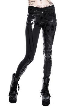 Chaos Matrix Leggings. Black goth leggings with black on black print.  #killstar, #gothclothing, #occultclothing, #gothleggings, #grungeclothing, #alternativeclothing, #killstarco