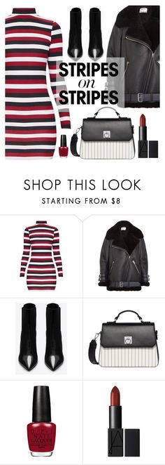 """Pattern Challenge: Stripes on Stripes"" by dora04 ❤ liked on Polyvore featuring Acne Studios, Yves Saint Laurent, Fiorelli, stripesonstripes and PatternChallenge"
