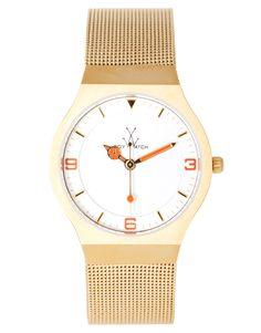 gold steel strap watch ++ toy watch