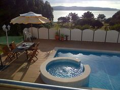 Nadadouro villa rental - Dusk by the pool