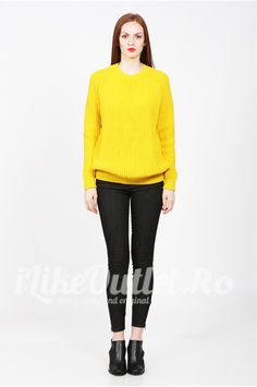 Pulover galben - COS Cos, Sweaters, Fashion, Moda, Fashion Styles, Fasion, Sweater, Sweatshirts