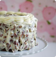 Italian Cream Cake w/pecans, coconut & cream cheese = yummy *Italy doesn't come to mind at all when I think of these ingredients. Sweet Recipes, Cake Recipes, Dessert Recipes, Dessert Ideas, Just Desserts, Delicious Desserts, Yummy Food, Italian Cream Cakes, Italian Cake