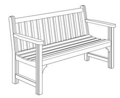 Numerous free garden bench plans.