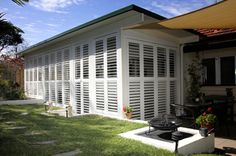 enclosed patio shutters - Google Search