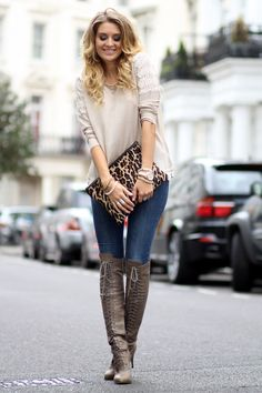 leopard and boots