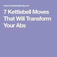 Try these 7 kettlebell moves to achieve a stronger core and more sculpted abs. Kettlebell Abs, Ab Moves, Just Do It, Fitness Inspiration, Drill, Healthy Lifestyle, Health Fitness, Exercises, Workouts
