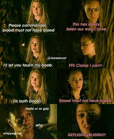 This one is so funny #clexa #clarke #lexa #lexasexual