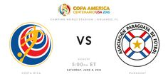 Costa Rica vs Paraguay Copa America Cup 2016 Watch Live Streaming Online Is Here. Watch Copa America Centenario Live Match Costa Rica vs Paraguay 4th June.