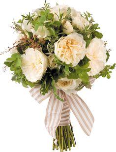 Herb laden bridal bouquet. Smells so good!!