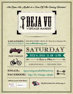 Fancy Finds | Deja Vu Vintage Market at Wellbrook Winery July 6th! As Featured on Heirloom Magazine: http://wp.me/p32xhJ-1Oc
