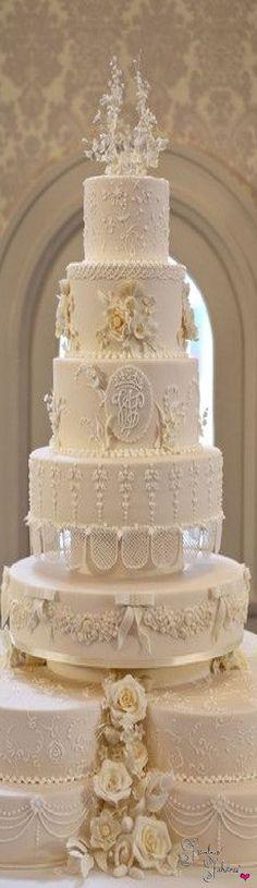 Indian Weddings Inspirations. White Royal Wedding Cake. Repinned by #indianweddingsmag indianweddingsmag.com #weddingcake