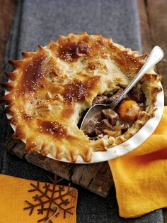 ~ Welsh Beef and Clementine pie ~ serve with seasonal vegetables and mash ~