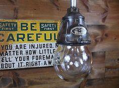 Vintage 30s Benjamin Explosion Proof Industrial Pendant Light Gas Station Barn 4