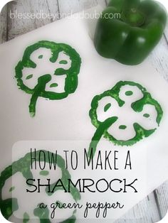 Simple, but FUN St. Patricks Day craft shamrock for all ages!