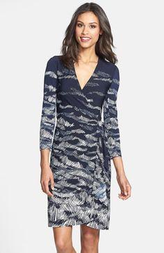 BCBG MAXAZRIA BCBGMAXAZRIA Landscape Print Matte Jersey Wrap Dress (Regular & Petite) available at #Nordstrom