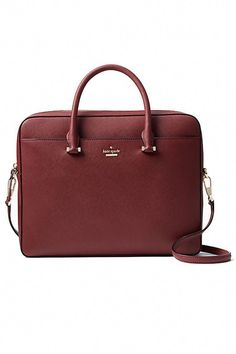 15 Chic Bags That Are Big Enough to Carry Your Laptop The office-friendly bags to shop now. Kate Spade s laptop bag comes with both a shoulder strap and top handle, so you can tote it around however you want. Kate Spade Laptop Bag, Laptop Tote, Laptop Stand, Cute Laptop Bags, Office Bags For Women, Laptop Bag For Women, Work Tote, Work Bags, Best Work Bag