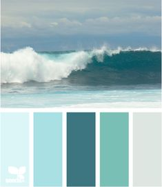 I think I found a new color scheme. Beach Decor Color Palette - CereusArt - My living room is the color from the left. I love the palette of colors and need to work in the rest! Coastal Living, Coastal Decor, Coastal Colors, Ocean Colors, Beachy Colors, Relaxing Colors, Beach Room, Design Seeds, Beach Cottages