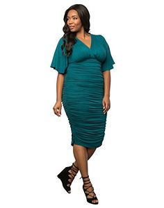 Kiyonna Women's Plus Size Rumor Ruched Dress - New Dresses Special Today