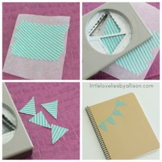 little lovelies: tutorial: washi tape stickers