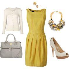 Peep toe and retro dress