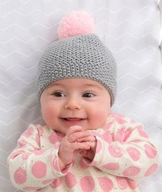 Newborn Cozy Cap | If this adorable knit baby hat doesn't make you squeal, I don't know what will.