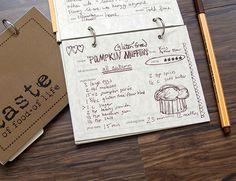Recipe journaling hand written doodles