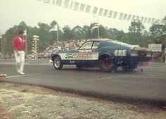 Aquasco Speedway Tom Grove Mustang Funny Car