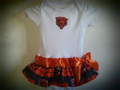 Chicago Bears inspired baby girl outfit by killerkrafts on Etsy