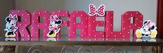 Letra 3D - Minnie Vermelha | J e W - Convites Personalizados | Elo7