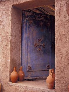 Berber Village Doorway Morocco Canvas Art - Darrell Gulin DanitaDelimont x