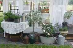 Love the look. Going to spend more time dining out in the garden this summer.