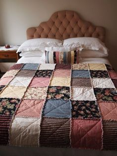 Shaggy flannel quilt