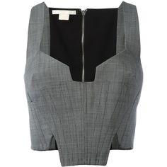 Antonio Berardi - cropped corset top - women - Mohair/Wool - 44 (€
