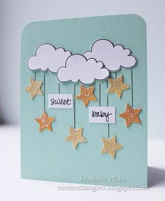 Happy Monday! Today I get to share a very special card! The lovely Jennifer McGuire welcomed her baby girl into the world yeste...