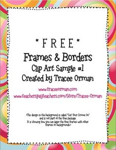 free frames and borders