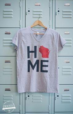 Heathered Grey V-neck Ladies HOME shirt Home T Shirts 597e00b59