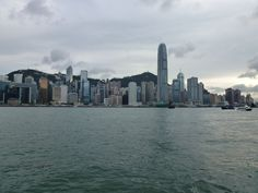 A view of the Hong Kong waterfront from the star ferry in China.
