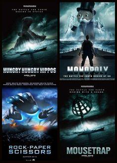 Battleship movie poster parodies.
