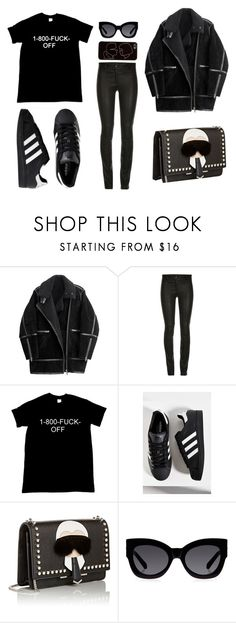 """""""Untitled #6"""" by candelariapruneda ❤ liked on Polyvore featuring H&M, adidas, Fendi, Karen Walker, Zero Gravity, women's clothing, women, female, woman and misses"""