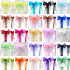 Chair Organza Sash - $60 for 100, free shipping