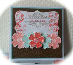 "Stampin' Up! stamp sets: ""Morning Meadow"" & ""Flower Shop"""