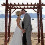 "The Lifes a Beach wedding venue in Lake Tahoe comes with an arch, right on the shore.  A great spot to say ""I Do!"" http://lakefrontwedding.com/lake-tahoe-wedding-venues/lake-tahoe-wedding-beach-weddings/lifes-a-beach/"