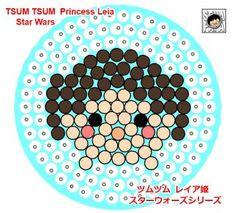 Princess Leia - Star Wars ''Tsum Tsum'' Perler Bead Pattern