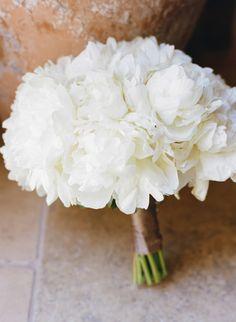 All-white peony bouquet: http://www.stylemepretty.com/california-weddings/santa-rosa/2015/01/14/rustic-northern-california-summer-wedding/ | Photography: Josh Gruetzmacher - http://joshgruetzmacher.com/