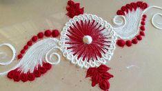 How to draw VERY Easy / Neat / Simple Rangoli Designs with colours Rangoli Colours, Rangoli Patterns, Rangoli Ideas, Colorful Rangoli Designs, Rangoli Designs Images, Beautiful Rangoli Designs, Saree Painting, Latest Rangoli, Indian Rangoli